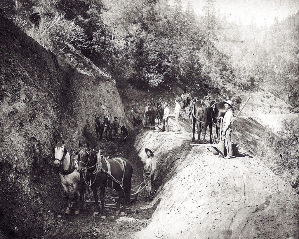 Amador Canal was constructed as a 24-mile long mining ditch from 1870 to 1874.