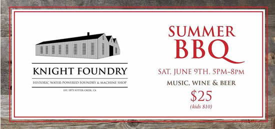 knight foundry BBQ fund raiser 2018