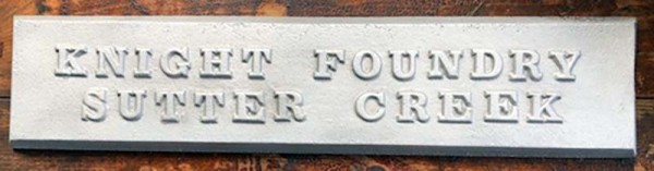 Nameplate – Cast at Knight Foundry