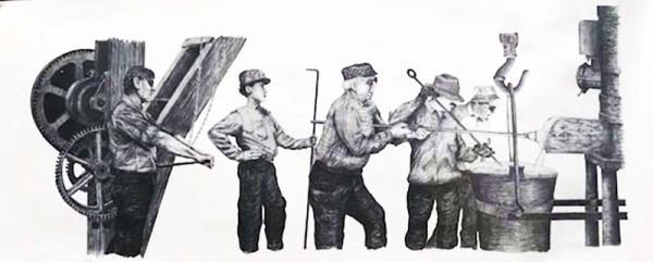 """""""Pouring the Iron"""" Art Print - $25"""