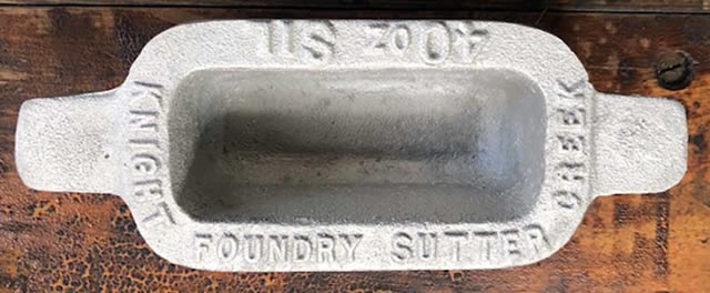 Ingot Mold Replica – Cast at Knight Foundry - $30